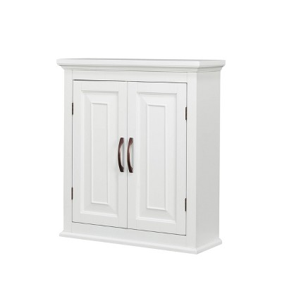 St.James Two Door Wall Cabinet White - Elegant Home Fashion