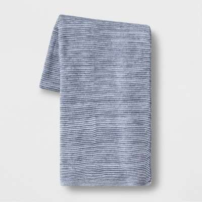 60 x 80  Marled Yarn Throw Blanket Blue - Threshold™