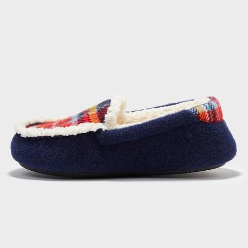 edfdd062e54 Boys  Dearfoams Moccasin Slippers - Blue 2-3   Target