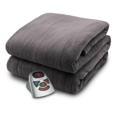 Microplush Electric Bed Blanket Gray - Biddeford Blankets