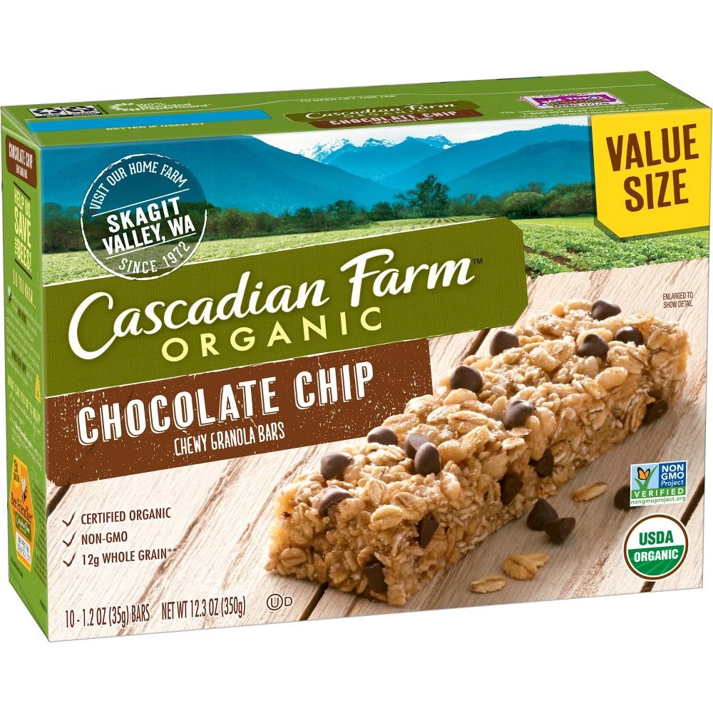 Cascadian Farms Organic Chewy Granola Bar-Chocolate Chip (10ct) 12.3oz
