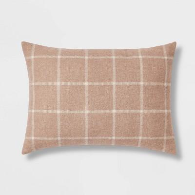 Windowpane Plaid Throw Pillow - Threshold™
