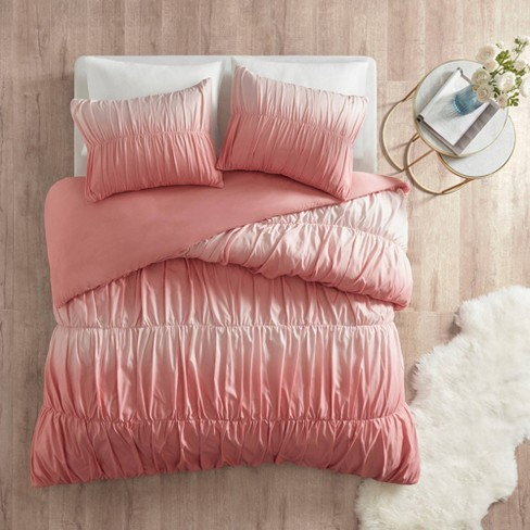 Lydia Ombre and Ruched Duvet Cover Set - image 1 of 4