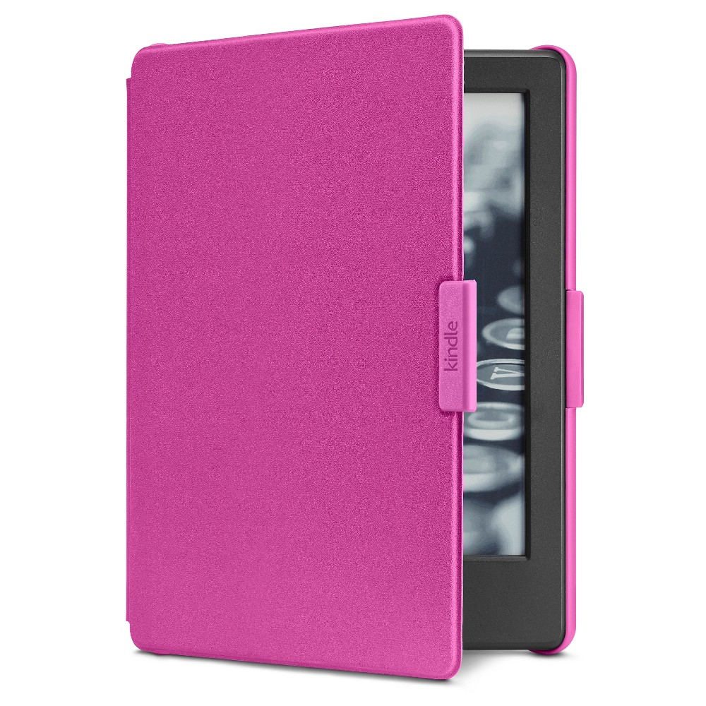 Amazon Cover for Kindle (8th Generation, 2016) - Magenta (Pink) Protect your e-reader with the Amazon Cover for Kindle, Protective and Form Fitting Case for Kindle E-Reader (8th Generation, 2016). This kindle case fits snugly and has a foldable cover to shield your screen. Color: Magenta.