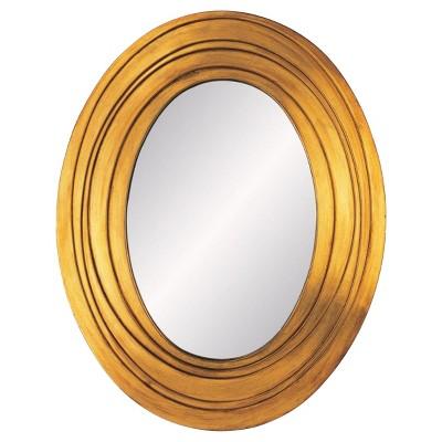 OK Lighting Golden Ripple Mirror