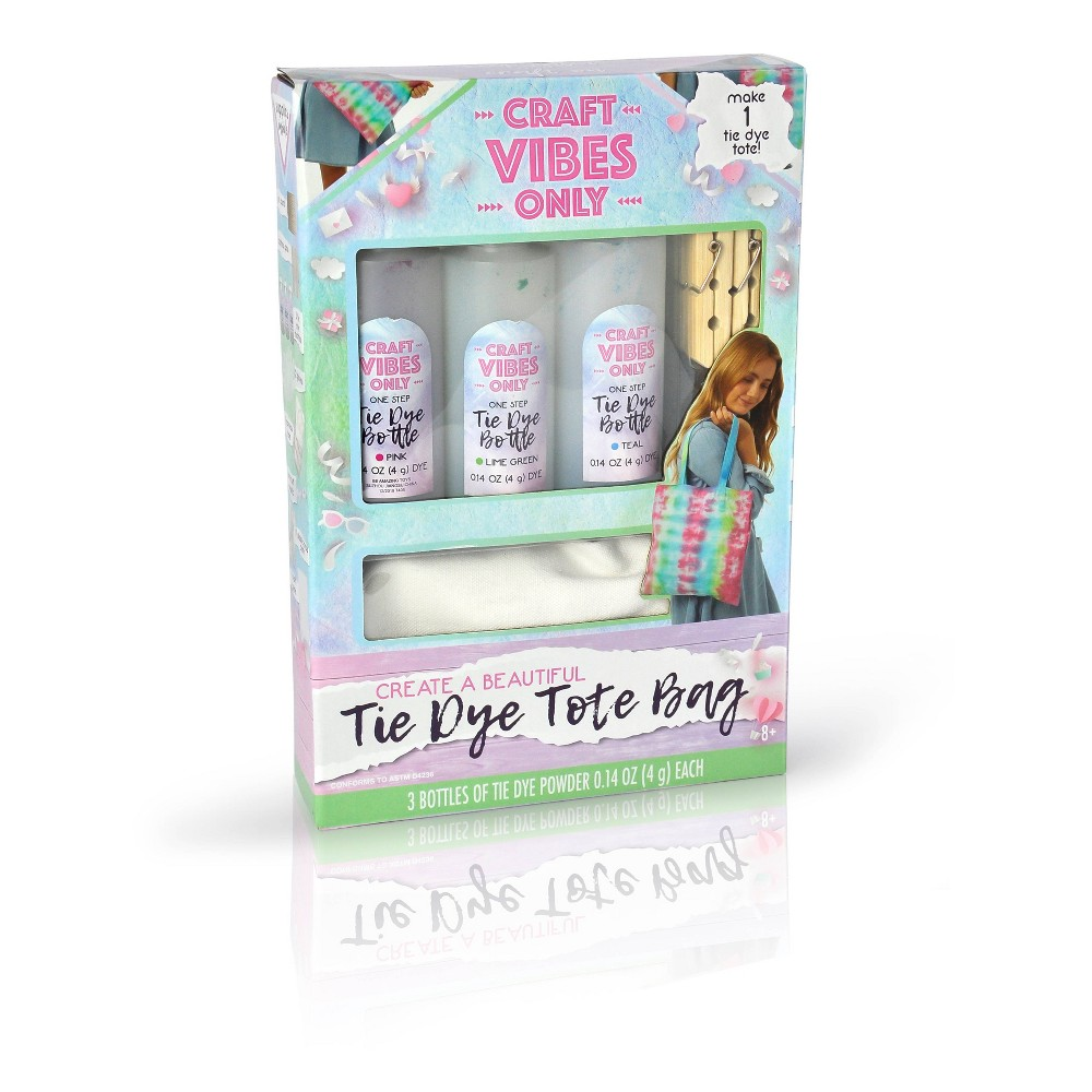 Image of Craft Vibes Only Tie Dye Tote Bag Craft Kit