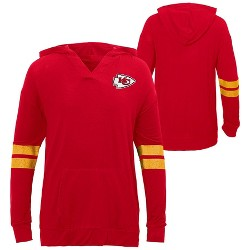 NFL Kansas City Chiefs Girls' Dark Lightweight Hoodie
