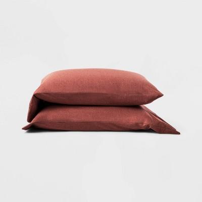 Standard Jersey Solid Pillowcase Set Clay - Casaluna™