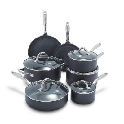 GreenPan Madison 12pc Hard Anodized Ceramic Non-Stick Cookware Set