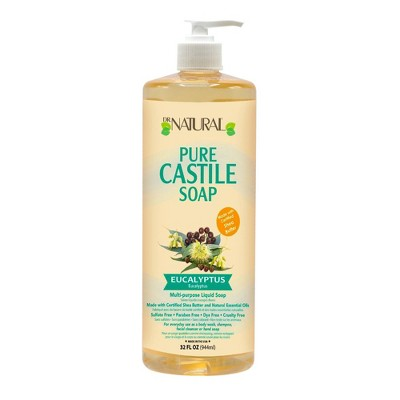 Dr. Natural Pure Castile Soap with Organic Shea Butter - Eucalyptus - 32 fl oz