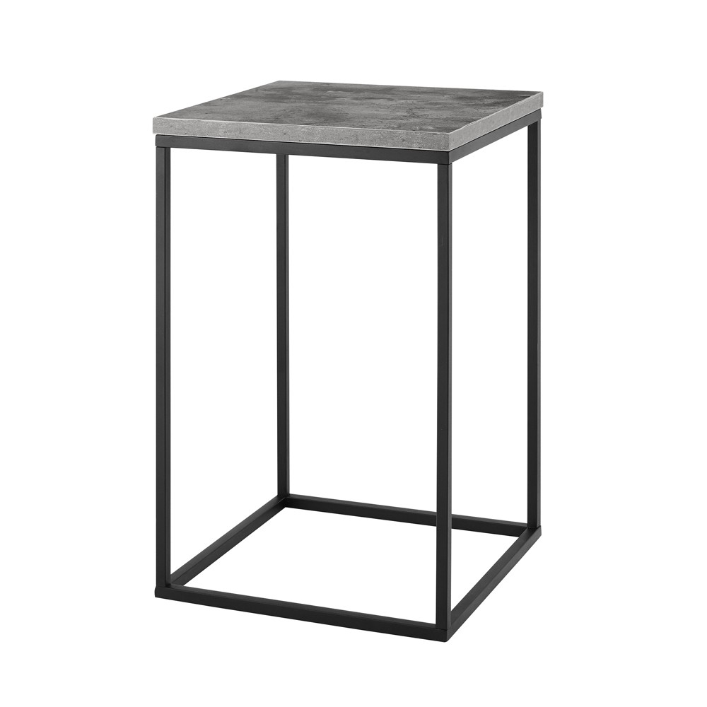 "Image of ""16"""" Open Box Side Table Dark Concrete - Saracina Home"""