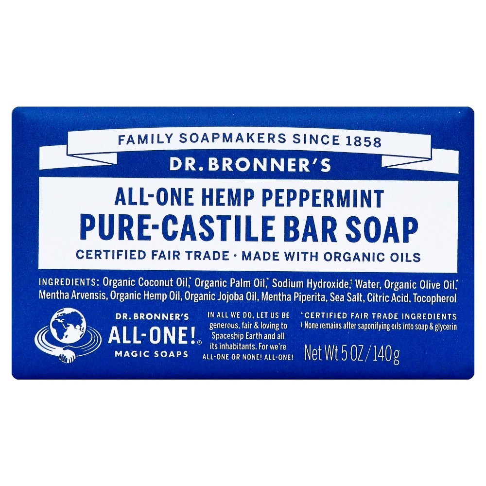 Image of Dr. Bronner's Bar Soap - Peppermint (5 oz..)