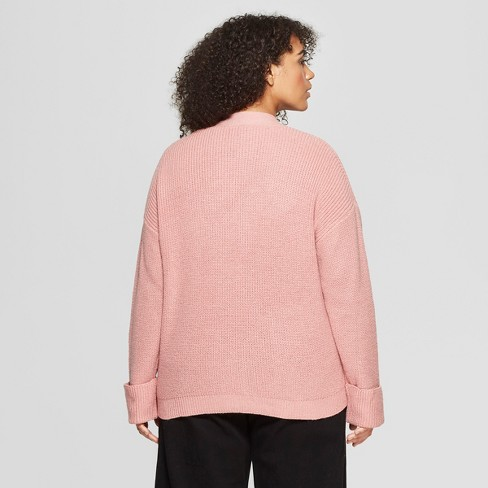 1d7d7ccc9baa Women s Plus Size Long Sleeve Ribbed Cardigan - Who What Wear™   Target