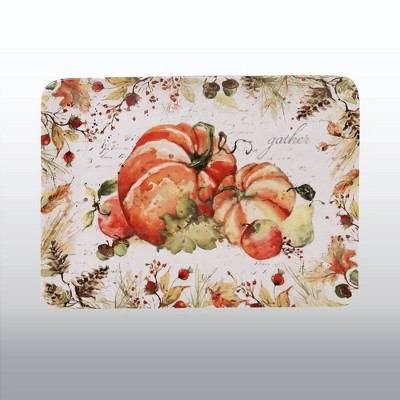 16  x 12  Earthenware Harvest Splash Serving Platter Orange - Certified International