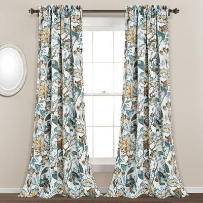 Set of 2 Cynthia Jacobean Window Curtain Panels - Lush Décor