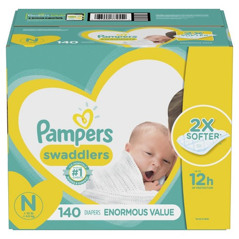 Pampers Swaddlers Disposable Diapers Enormous Pack - (Select Size) - image 1 of 4