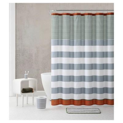 Stripe 18pc Shower Sets - Orange/Green - VCNY®