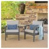 Honolulu Set of 2 Outdoor Wicker Club Chair with Cushion - Christopher Knight Home - image 4 of 4