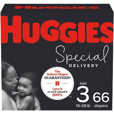 Huggies Special Delivery Hypoallergenic Baby Disposable Diapers Super Pack - Size 3 - 66ct