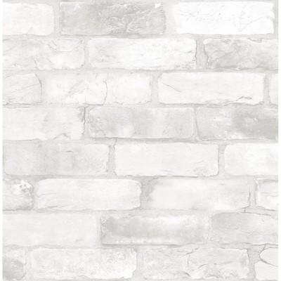 Brewster Loft Brick Peel & Stick Wallpaper White