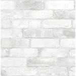Subway Tile Peel Stick Wallpaper White Threshold Target