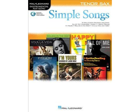 Simple Songs Tenor Sax : With Downloadable Audio -  (Paperback) - image 1 of 1