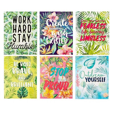 """12-Pack File Folders in 6 Motivational Tropical Palm Trees Design for Letter Size Paper, 12"""" x 9.25"""""""