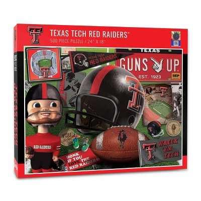 NCAA Texas Tech Red Raiders Throwback Puzzle 500pc