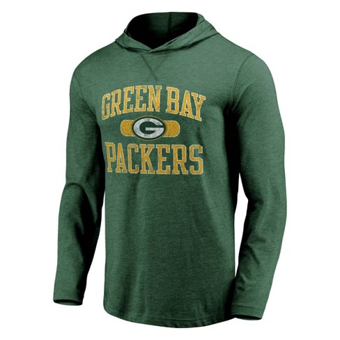 NFL Green Bay Packers Men's Block Arch Lightweight Hoodie - image 1 of 3