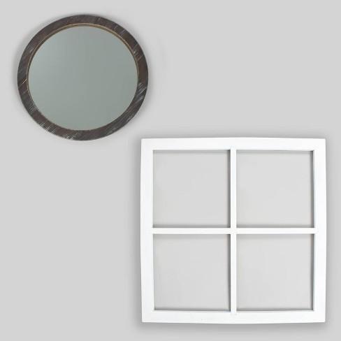 2pc Window Pane & Mirror Decor - Bullseye's Playground™ - image 1 of 3