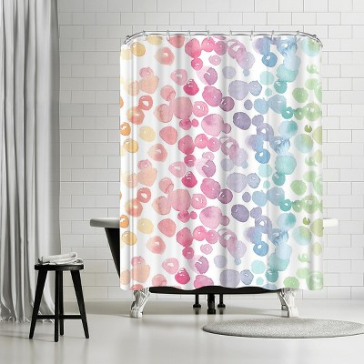 """Americanflat Rainbow Abstract 9 by Victoria Nelson 71"""" x 74"""" Shower Curtain"""