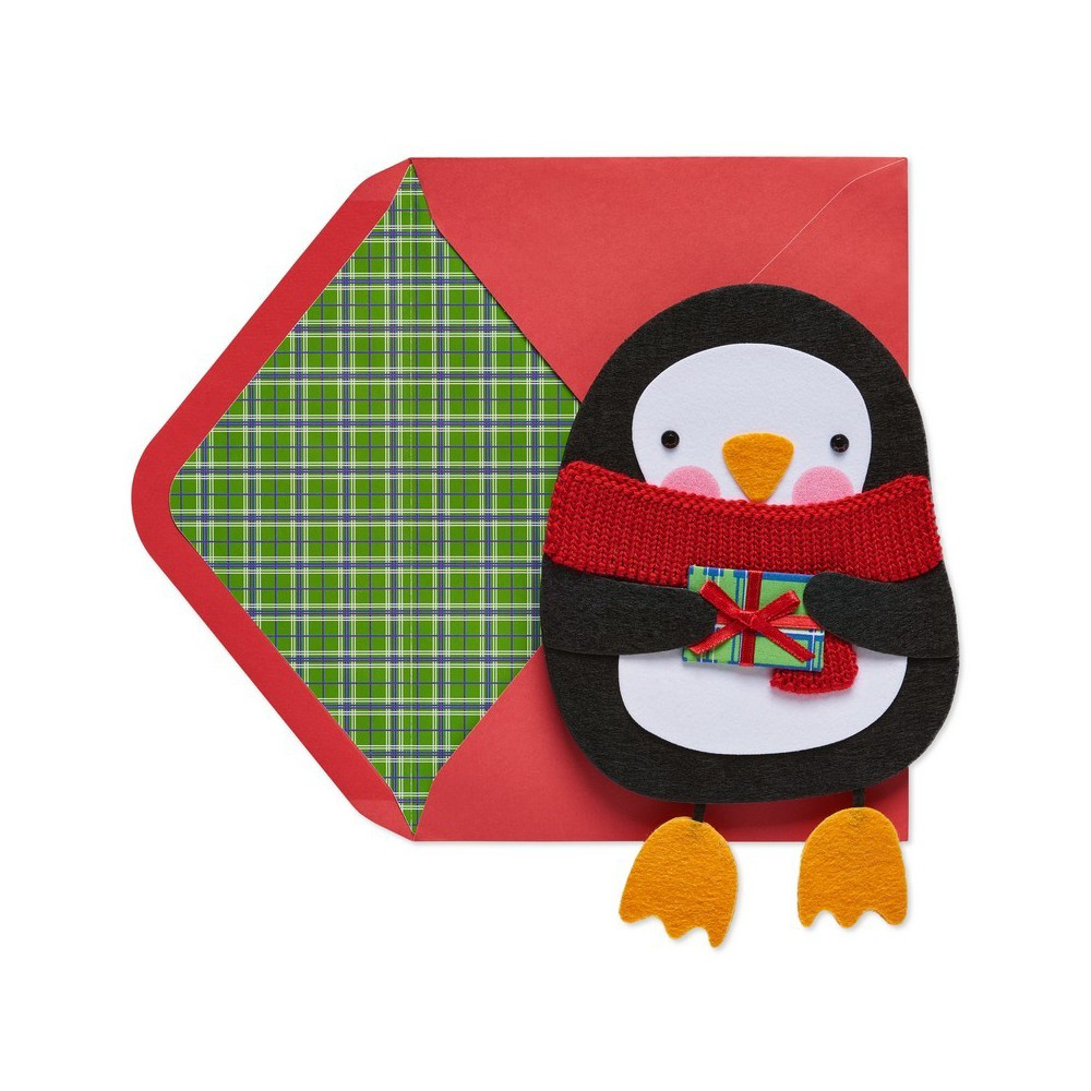 Papyrus Penguin With Dangly Feet Greeting Card, Multi-Colored