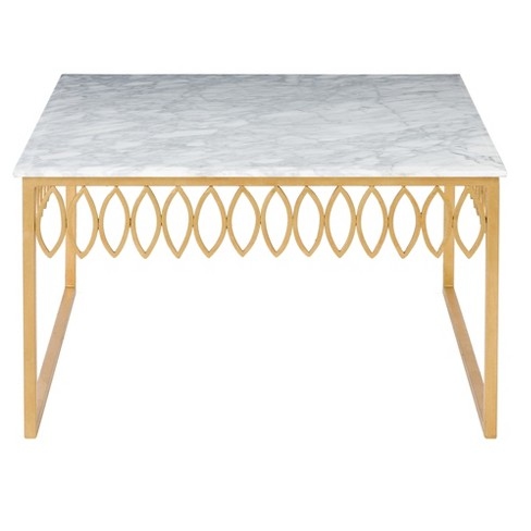 Cocktail Table Gold White - Safavieh - image 1 of 4