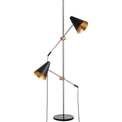 "71"" Reed Floor Lamp Black (Includes CFL Light Bulb) - Safavieh"