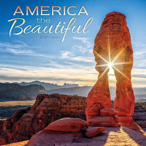 2018 America the Beautiful Wall Calendar - Trends International - image 1 of 4