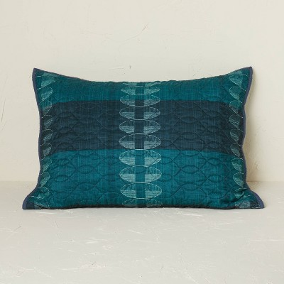 Printed Quilt Sham Teal - Opalhouse™ designed with Jungalow™