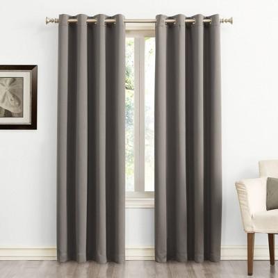 "54""x84"" Saxon Energy Saving Grommet Top Blackout Curtain Panel Gray - Sun Zero"