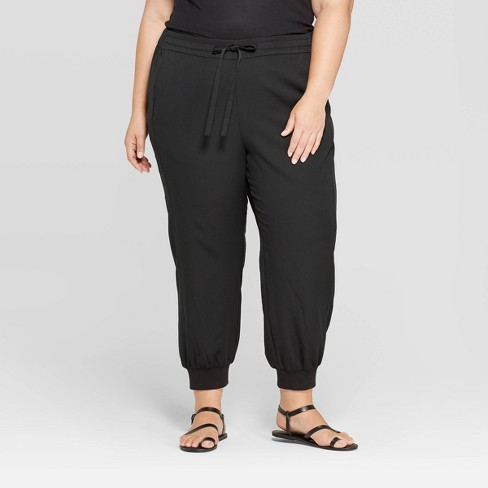 Women's Plus Size Mid-Rise Cuffed Jogger Pants - Prologue™ - image 1 of 3
