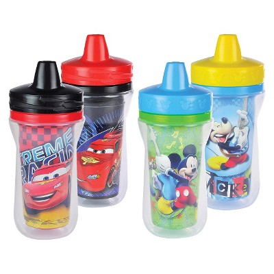 The First Years Disney Baby Mickey Mouse and Pixar Cars Insulated Sippy Cup - 9 oz., 4 pack