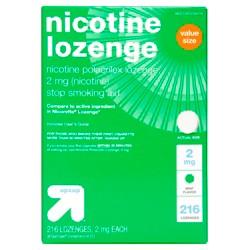 Nicotine 2mg Lozenge Stop Smoking Aid - Mint - 216ct - Up&Up™