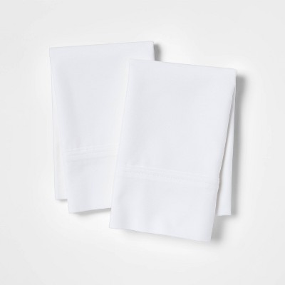 Standard 300 Thread Count Ultra Soft Pillowcase Set White - Threshold™