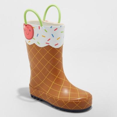58eb9cf219c Toddler Girls  Minerva Ice Cream Rain Boots - Cat   Jack™ Brown