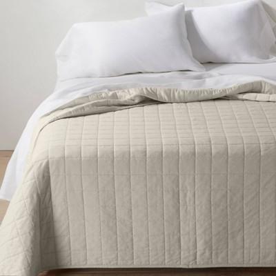 Full/Queen Heavyweight Linen Blend Quilt Natural - Casaluna™