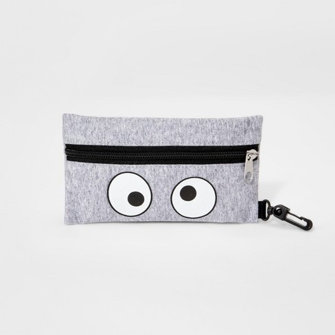 Girls' Soft Monster Zip Case - Cat & Jack™ Gray - image 1 of 1