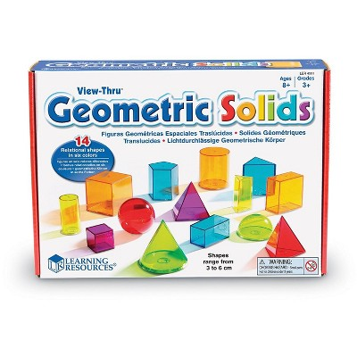 Learning Resources View-Thru Geometric Solids, 14 Pieces, Ages 8+