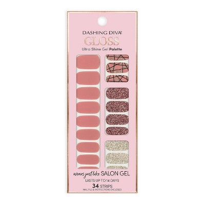 Dashing Diva Gloss Ultra Shine Gel Palette - Rose Sparkle