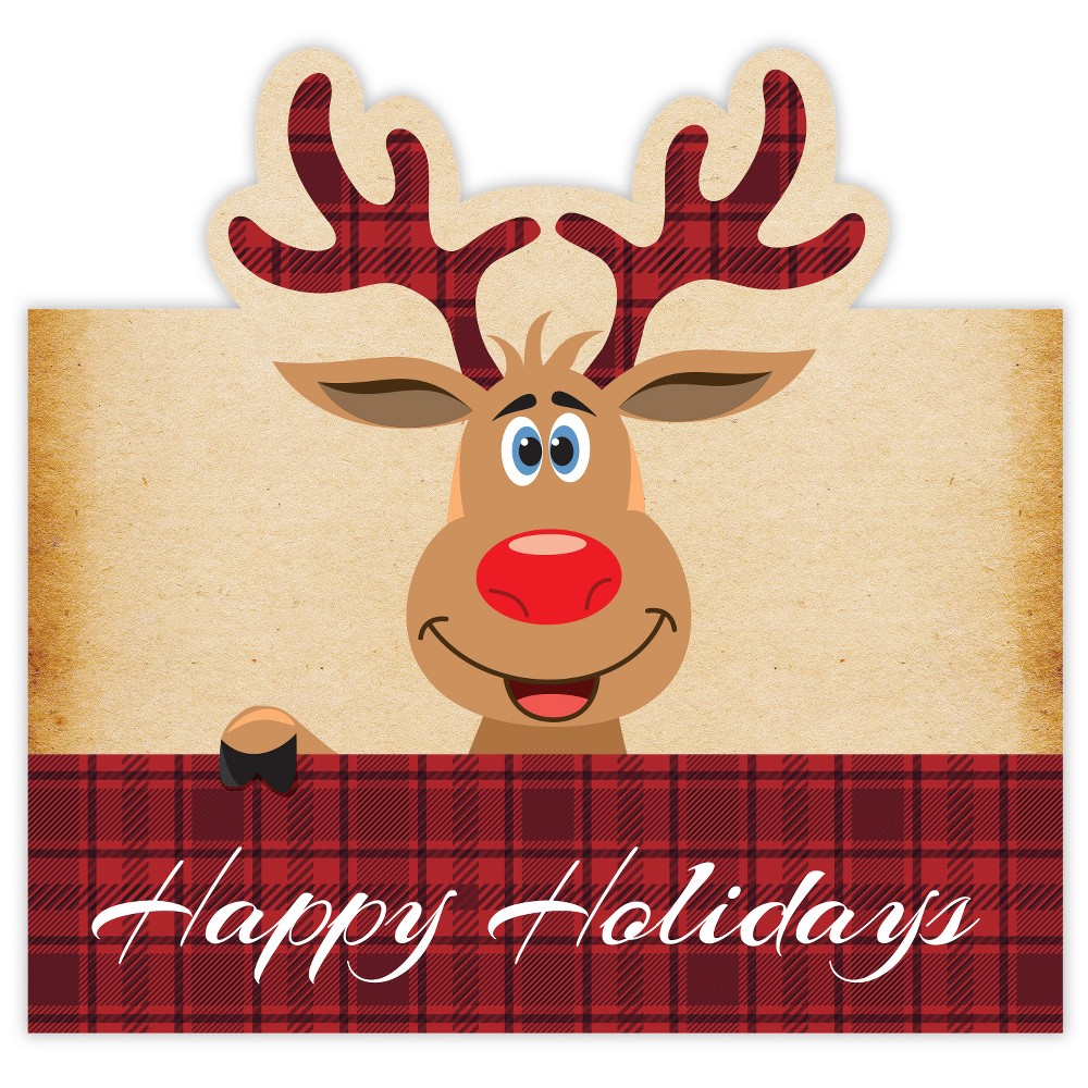 6pk Pop Up Reindeer Note Cards - Great Papers!, Multi-Colored