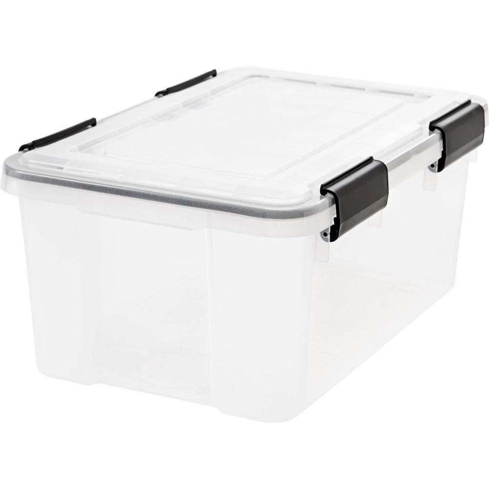 Image of IRIS 19qt Weathertight Storage Box Clear