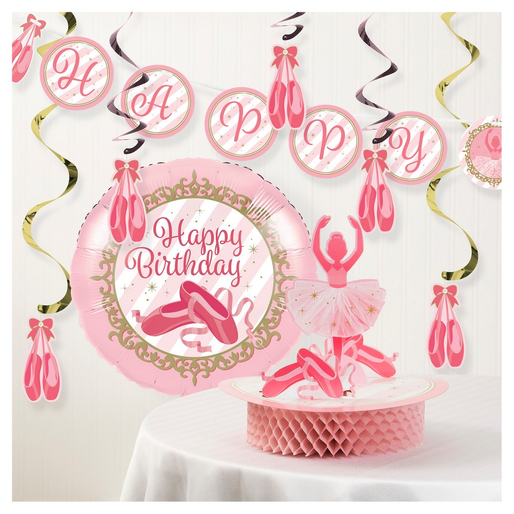 Image of Ballet Birthday Party Decorations Kit