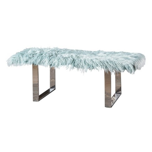 Damie Furry Ottoman - Christopher Knight Home - image 1 of 4